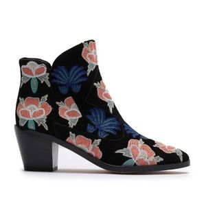 Rebecca Minkoff Floral Embroidered Booties